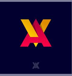 A and v monogram interlocking letters logo vector