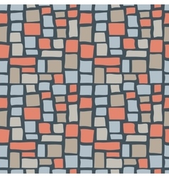 Abstract Cobble Bricks Seamless Pattern Texture vector