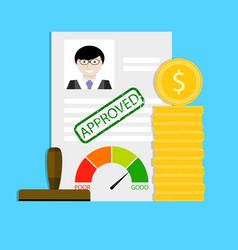 Approval loan vector