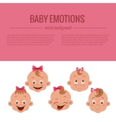 Baby facial expression vector