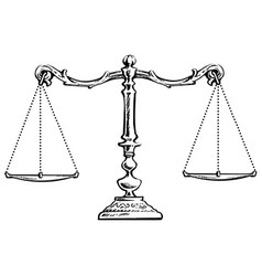 balanced scales vector image