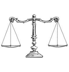 Balanced scales vector