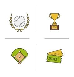 Baseball icons vector image