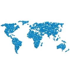 Bluel World map vector image