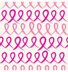 Breast cancer awareness pink ribbons seamless vector