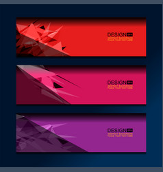 Business banner polygon background vector