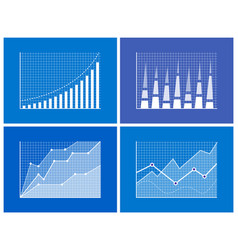 Business chart information vector