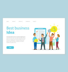 business site template people holds motivation vector image