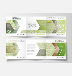 business templates tri fold brochures square vector image