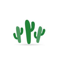 cactus color flat icon vector image