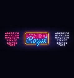 casino royal neon sign casino design vector image