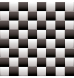 Checkered black n white vector image
