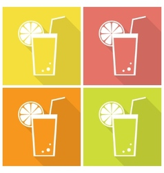 Citrus juice icons vector image