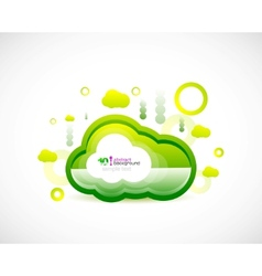 clean cloud green space concept vector image