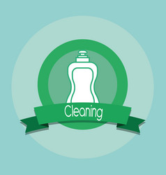 cleaning emblem design vector image