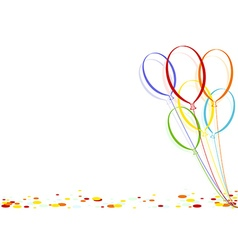 Colored Confetti and Party Balloons vector
