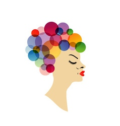Colorful hairstyle vector image