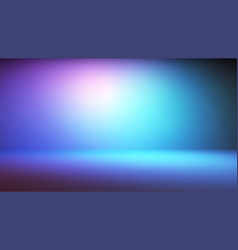 Colorful neon gradient studio backdrop with empty vector