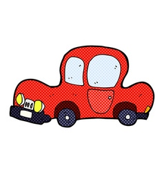 Comic cartoon car vector