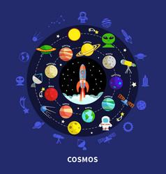 Cosmos concept vector