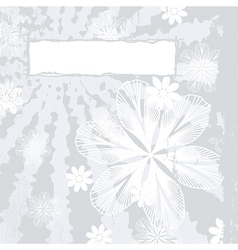 Couture Floral Grunge vector