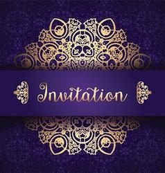 decorative invitation background 1006 vector image