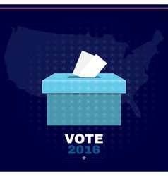 Digital usa election with vote box vector image