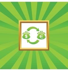 Dollar euro exchange picture icon vector image