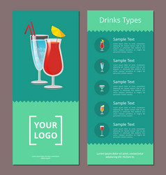 drink types advertisement poster design alcohol vector image