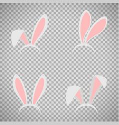 easter bunny ears mask set vector image