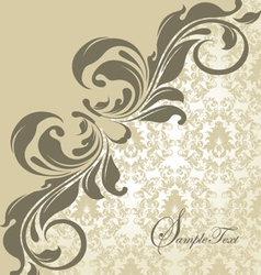elegant wedding damask invitation card vector image