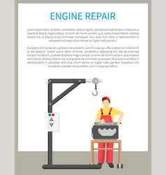 engine repair banner text vector image