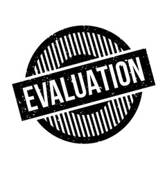 Evaluation rubber stamp vector