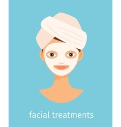 Facial treatments vector image