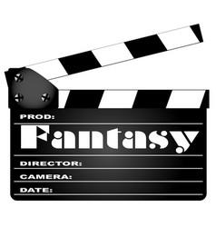 Fantasy movie clapperboard vector
