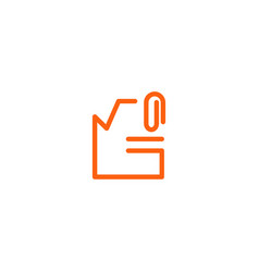 File archive document logo template icon element vector