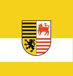 Flag of elbe-elster in brandenburg germany vector