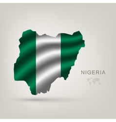 Flag of Nigeria as the country vector