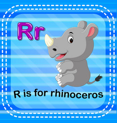 flashcard letter r is for rhino vector image