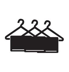 Flat black towel icon vector