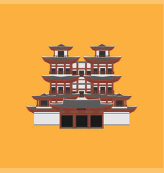 Flat building of republic of singapore travel vector