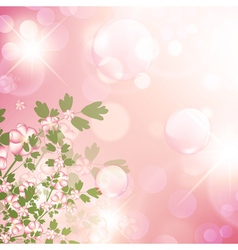 floral bubbly background vector image
