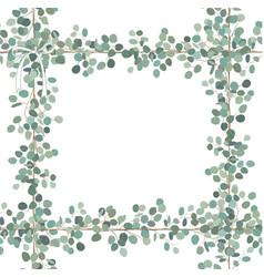 Floral card design eucalyptus silver dollar vector
