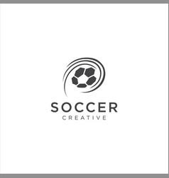 football soccer logo sport design ball icon vector image