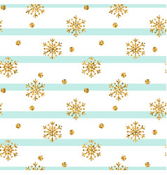 gold snowflake christmas background vector image