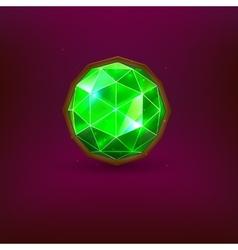 Green gem vector