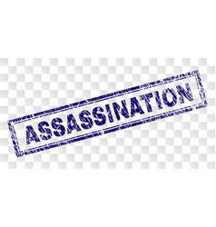 Grunge assassination rectangle stamp vector