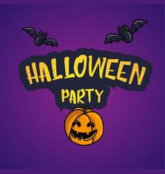 happy halloween cartoon doodle poscard vector image