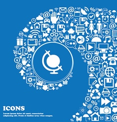 Icon world sign Nice set of beautiful icons vector
