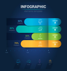 infographic elements - bar chart vector image